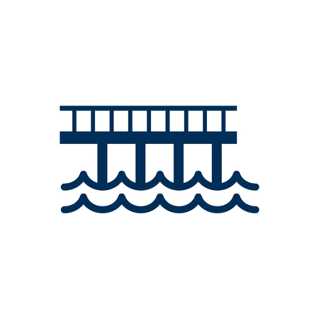 Isolated wharf icon symbol on white