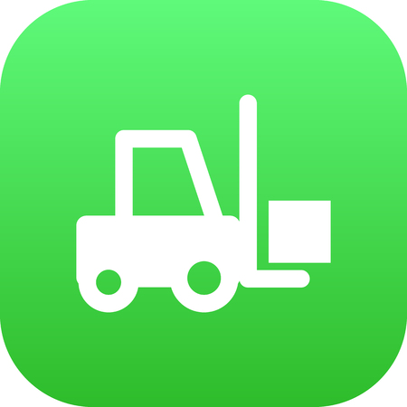 Isolated forklift icon symbol