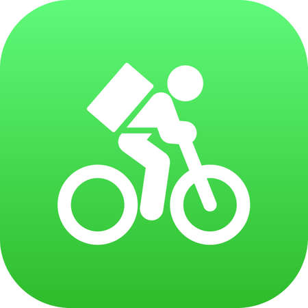 Isolated bicycle icon symbol on clean background. Vector delivery element in trendy style. Stock Illustratie