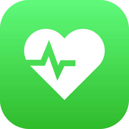 Isolated heartbeat icon symbol on clean background. Vector pulse element in trendy style. 向量圖像
