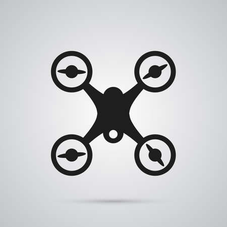 Isolated drone icon symbol on clean background. Vector quadcopter element in trendy style.