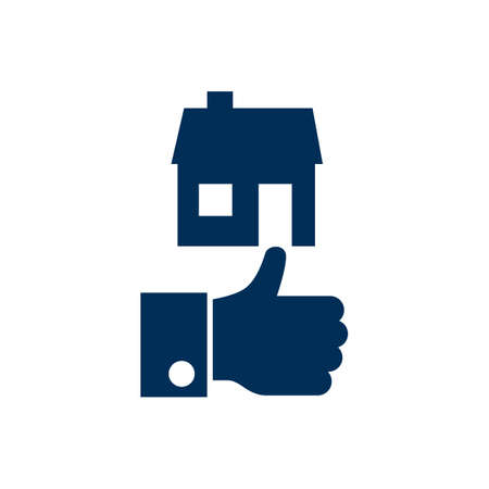 Isolated good property choice icon symbol on clean background. like element in trendy style. 版權商用圖片