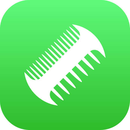 Isolated scallop icon symbol on clean background. comb element in trendy style. 版權商用圖片