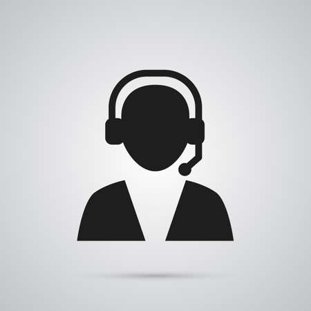 Isolated telemarketing icon symbol on clean background. Vector online support element in trendy style.
