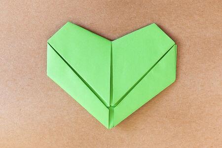 paper green heart, Love card, Love postcard photo
