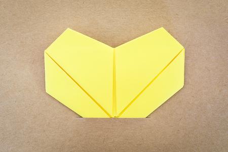 paper yellow heart, Love card, Love postcard photo