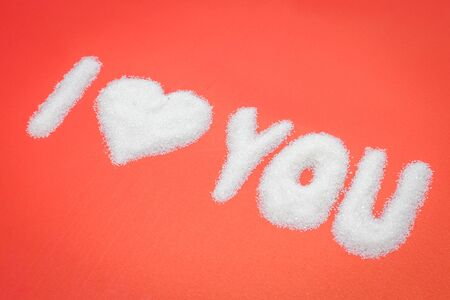 I Love You from sugar, Valentines day photo