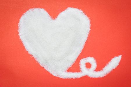 valentijn hart: Hart van suiker, Valentine hart Stockfoto