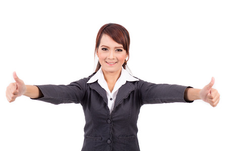 very good: Portrait of a young attractive confident business woman, success, very good