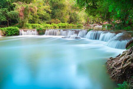 namtok: Beautiful waterfall in the forest at Namtok Chet Sao Noi Saraburi Thailand Stock Photo