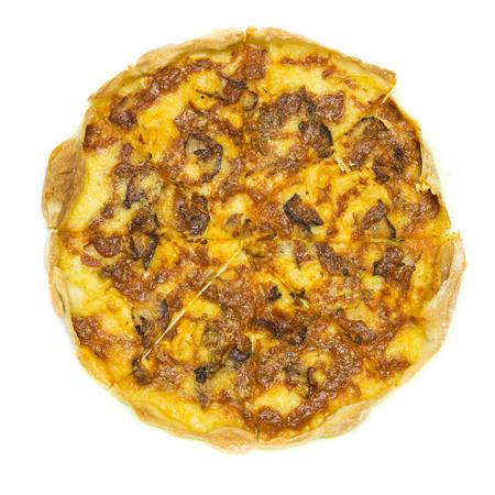 comida italiana: pepperoni en rodajas finas es una pizza populares superando en pizzer�as de estilo italiano