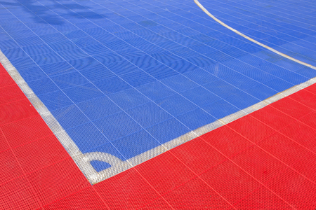 futsal: Ground futsal field Stock Photo
