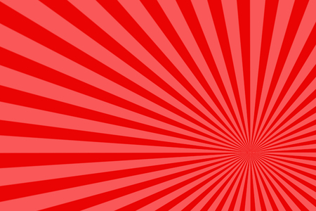 Red rising sun. Abstract sunburst pattern background Stock Photo