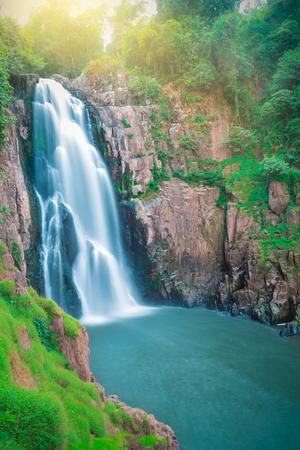 korat: Beautiful fantastic deep forest waterfall at Haew narok waterfall, khao yai national park, Thailand