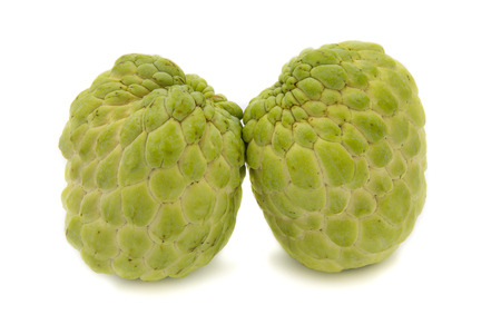 sweetsop: Sugar apple or custard apple, annona, sweetsop isolated on white background is native fruit of thailand
