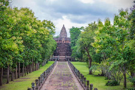 Phanom Rung Historical Park built by rock at Phanom Rung mountain buriram province, Attractions in Thailand Banque d'images - 110953121