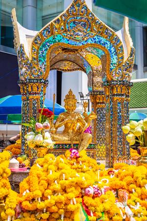 Thao Maha Brahma or Erawan shrine Important and popular places or landmark in Bangkok Thailand.