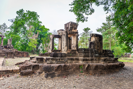 Thai archaeological site. can be found in Nakhon Ratchasima Province Thailand Reklamní fotografie
