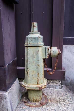 Old Traditional Fire Hydrant Hose in Takayama, Japan