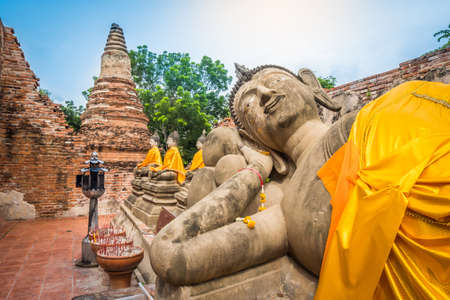 Buddha statue at Wat Phutthaisawan Temple in Ayutthaya, Thailand