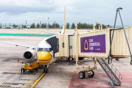 Phuket Thailand - May 29,2016 : The plane of Nok air that is parked on Phuket International Airport is waiting to transport people by weaving both domestically internationally. Sajtókép