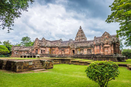 Prasat Hin Phanom Rung, large, located on a high mountain in the middle of a deep forest built in the ancient Khmer period in Buriram, Thailand.