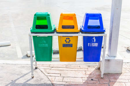 Sorted waste bin, Recycle, Wet waste, Public general waste Archivio Fotografico