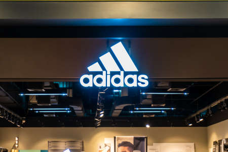 Nakhon Ratchasima Thailand - February 26, 2017: Adidas store for selling products, clothes, shoes, bags and more in Nakhon Ratchasima Éditoriale