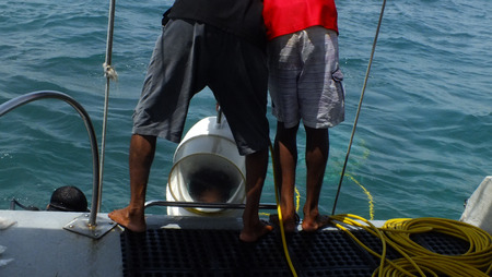 Sea Walker at Tanjung Benoa Bali Indonesia photo