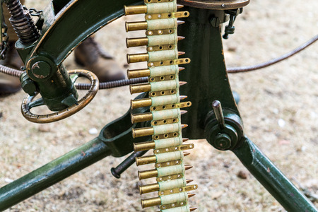 World War I, Part of MACHINE GUN, AMMO BELT.