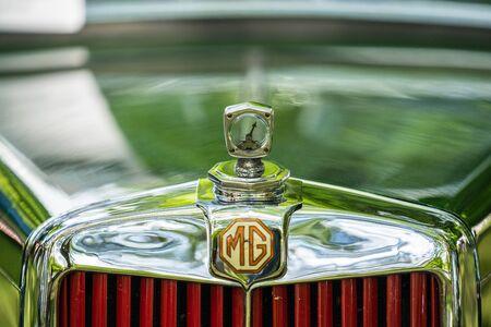 Bedford, Bedfordshire, UK. June 2 2019. Festival of Motoring, fragment of a Vintage MG sports car
