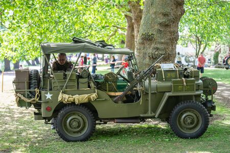 Bedford, Bedfordshire, UK. June 2 2019. Festival of Motoring, Ford GPW 1944, U.S. Army Truck, Command Reconnaissance, commonly known as Jeep or jeep.