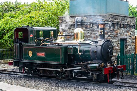 Castletown,Isle of Man, June 16, 2019.The locomotives of the Isle of Man Railway were provided exclusively by Beyer, Peacock and Company of Manchester, England between 1873 and 1926. No. 13 Kissack Sajtókép