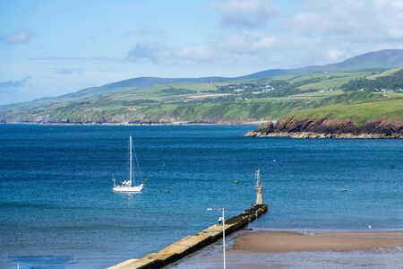 Peel, Isle of Man, June 16,2019. It is a seaside town and small fishing port on the Isle of Man, in the historic parish of German but administered separately Editorial