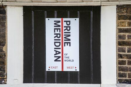 Prime Meridian Line.Royal Observatory en Greenwich, Londres, Reino Unido.