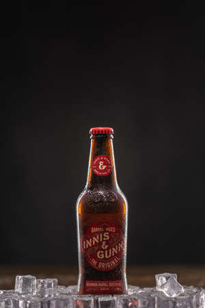Innis and Gunn is a beer brand based in Edinburgh, Scotland.UK, Bedford, December 31, 2020 新闻类图片