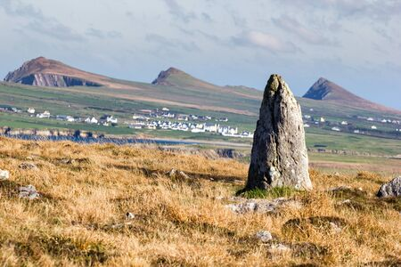 Standing stone on Dingle peninsula Stock Photo