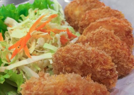 circle shape: Shrimp tempura circle shape