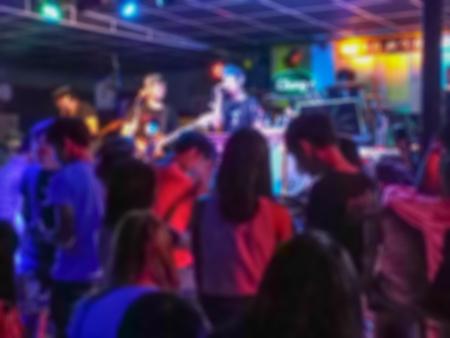 Night life party, Kalasin Thailand Asia, Defocused