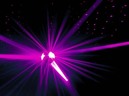 Laser Purple Light Abstract with Black Background Stock Photo