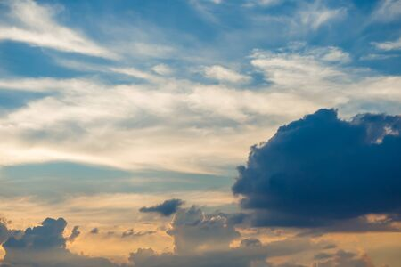 softly: Abstract softly cloud at twilight time, Thailad Asia Stock Photo