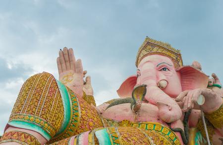 public domain: Lord Ganesha Statue on blue sky, Nakhon Nayok Thailand, Public Domain