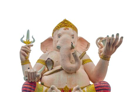 public domain: Isolated Lord Ganesha Statue on White Background