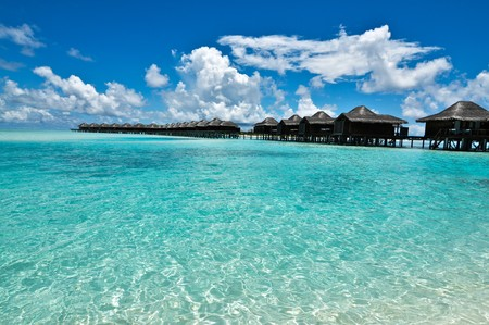 pacific islands: Overwater Bungalow, Maldives