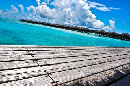 Resort Jetty, Maldives Stock Photo - 7156098