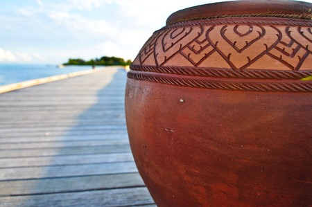 Thai Style Water Jar Stock Photo - 7156088