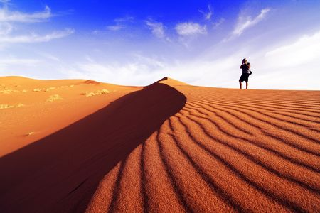 libya: Photographing the desert of southern Morocco on a day of dune
