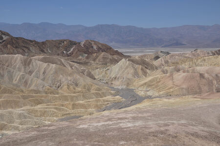 View of Zabriskie Point in the Death Valley, California, Usa photo