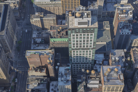 view from above of skyscrapers; Manhattan;New York, Usa Stock Photo