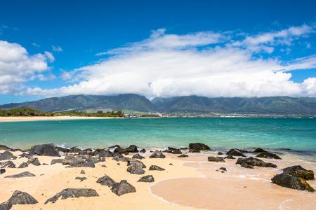 View of Kahului from Kanaha Beach Park, Maui, Hawaii